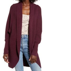 NWT Leith Dolman sleeve long cardigan sweater open